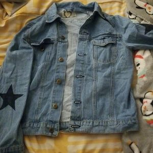 Jean jacket with star decal